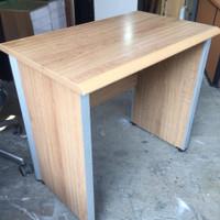 Meja Kantor minimalis 80x50cm, pinggiran alumunium