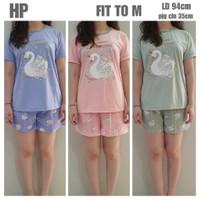 piyama HP lengan pendek - celana pendek anne claire/fit to M/swan