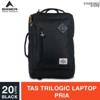 Eiger Detour Trilogic Slim Laptop Backpack - Black 20 L - ORIGINAL