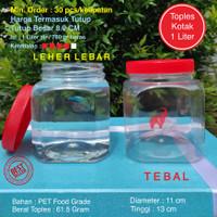 Toples Plastik Kotak Ikan Cupang 1 Liter Tebal