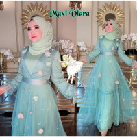 gamis mewah elegan tutu princess maxi maxy dress baju muslim wanita