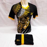 baju olahraga kaos setelan futsal dan sepakbola spec batik - no7, M
