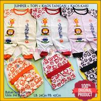 Baju Setelan Jumper Bayi Baru Lahir Laki-laki 0-6 Bulan Motif Hewan