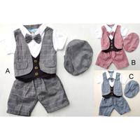 GMD 22 Baju bayi laki-laki setelan jas tuxedo baju kondangan anak