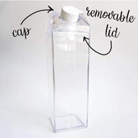 Botol air transparent/ Botol Kulkas 500ml/ Home Edit Fridge Bottles