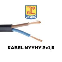 KABEL SERABUT HITAM NYYHY 2x1.5 SETARA ETERNA SUPREME