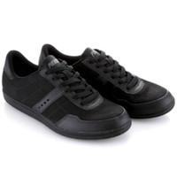 PIERO BASIC 725 ORIGINAL TERMURAH Sepatu Sneakers Pria Kasual - AllBlack, 39