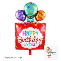 Balon Foil Happy Birthday HBD Kotak Balon / Box Balloon Circus