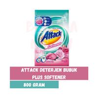 ATTACK Plus Softener Deterjen Bubuk 800 g Deterjen Konsentrat Anti Bak