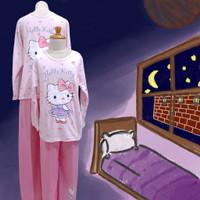 Baju Tidur Anak Perempuan GS (Kitty Dress) St. Lgn Pjg Cln Pjg