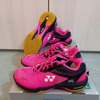 Sepatu Badminton Yonex SHB 65 X2 Women Power Cushion Pink Black ORI