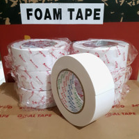 DOUBLE TAPE FOAM PUTIH (2 INCH × 6M) DOUBLE TAPE BUSA PUTIH MURAH