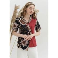Atasan blouse batik wanita (267ABAJB) batik modern model kimono