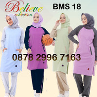 Setelan Baju Olahraga Wanita Muslim Believe BMS 18 / Baju Senam