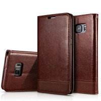 Flip Wallet Leather Dompet Kulit Cover Case Samsung Galaxy S6