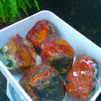 pancawarna kembang klawing bahan akik bukan kalimaya opal PAKET 5