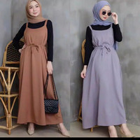 fshty-Ranty Overall Maxi Dress Bahan twiscone fit to L - coksu