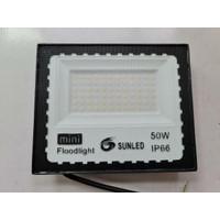 Lampu sorot LED slim 50watt 220V 6500K outdoor SUNLED IP67 SMD 2835 - 3000K