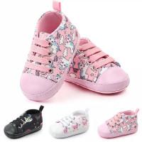 sepatu prewalker canvas tali untuk bayi anak perempuan