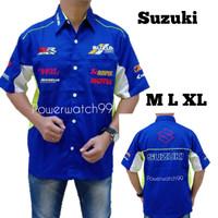 kemeja otomotif baju bordir komunitas f1 MotoGP Suzuki