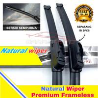 Wiper Karet Kaca Depan Datsun GO Original TMC Premium Frameless nwb