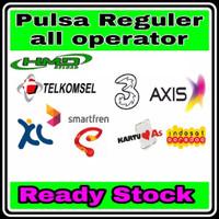 Pulsa Reguler Indosat/Axis/Telkomsel/XL/Tri/Smatfren 10k