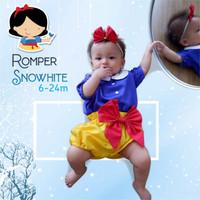 Baju Romper Princess Snow White Kostum Anak Bayi Putri Salju Size S