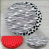 Alas/Bantal Duduk Busa Motif Hewan Kotak/Bulat Empuk Zebra Leopard Sap