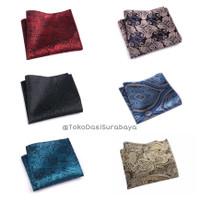 Pocket square handkerchief sapu tangan saku jas motif batik ready