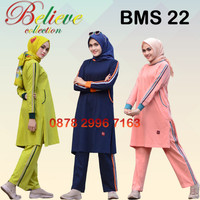 Setelan Baju Olahraga Wanita Muslim Believe BMS 22 / Baju Senam