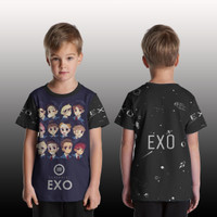 T Shirt/Kaos Anak Pria/Wanita/kaos Custom EXO art 3
