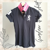 Giordano Polo Shirt Black Kaos Polo Wanita