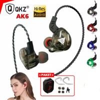 Headset Earphone QKZ AK6 sport Gaming HIFI BASS Stereo Musik with Mic