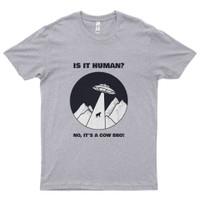Kaos Distro Premium Lengan Pendek Alien Mencuri Sapi T-Shirt - Misty, XXL
