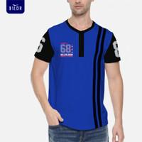 Kaos Casual Pria / Baju Pria Lengan Pendek / T-shirt Bilcir -88010- - Biru, M