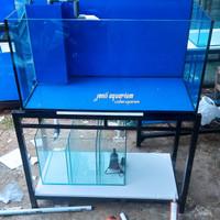 aquarium 100x50x50 Rimless dan sump filter