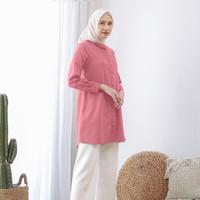 Wulfi Day to Day Kemeja Tunik Toyobo Fenomenal Thulian Pink
