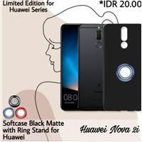 Case Huawei Nova 2i Case Matte Hitam i-Ring Cincin Holder Stand