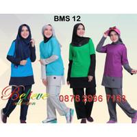 Setelan Baju Olahraga Wanita Muslim Believe BMS 12 / Baju Senam