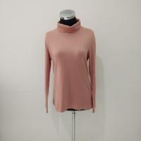 baju atasan wanita manset pink muda adem menyerap keringat dalaman gam