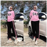 baju setelan olahraga wanita training jumbo/setelan olahraga muslimah