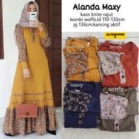 baju gamis wanita terbaru alada maxi mat kaos knit rajut mat wolfis