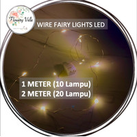 Fairy LED Light Kawat Lampu Hias Christmas Tumblr Light Dekorasi 1m 2m