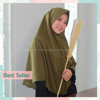 Mika Jumbo Hijab Instan Syar'i Dewasa Bahan Wolfis Premium Nyaman Adem