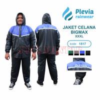 Jas Hujan Plevia Stelan BIG MAX 1817 XXXL Raincoat Dewasa Pria Wanita