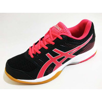 Sepatu Badminton Voli Asics Gel-Rocket 8 Women B756Y Black Pink ORI