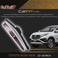 Raiton Sepasang Wiper Frameless Kaca Depan Toyota Rush New 22 & 16