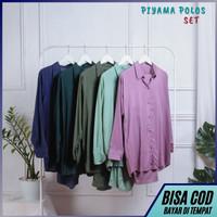 Piyama Set Rayon Polos - Setelan Baju Tidur / Pajamas Dewasa / Remaja