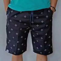 Celana pendek distro pria motif terbaru jova twill fit XL
