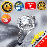 Ring Silver Emas Putih ASLI, Made in Korea, RL 115 (Garansi 6 bulan) B